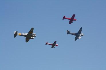 De Havilland DH.89A Dragon Rapide, De Havilland Canada DHC-1 Chipmunk Mk. 22s & Avro Anson T.21