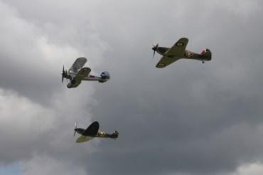 Gloster Gladiator Mk. II, Hawker Hurricane Mk. I & Supermarine Spitfire Mk. IA