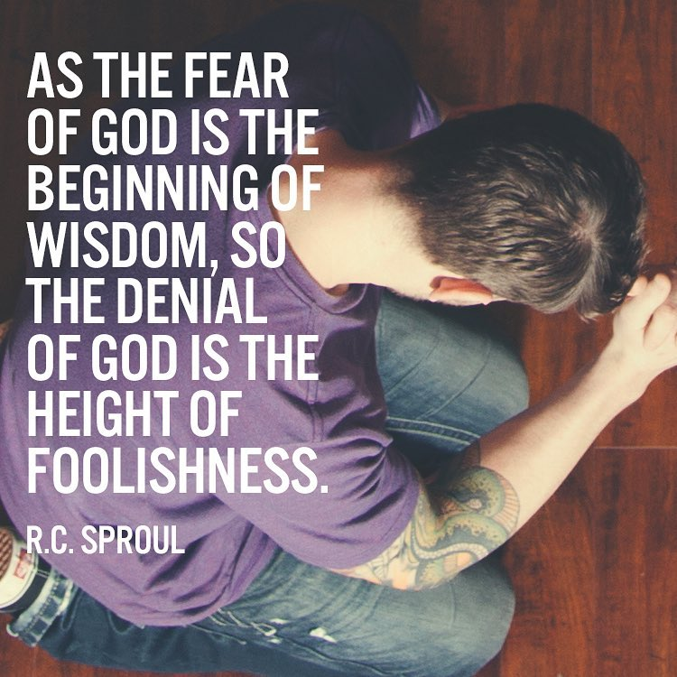 As the fear of God is the beginning of wisdom, so the denial of God is the heigh…