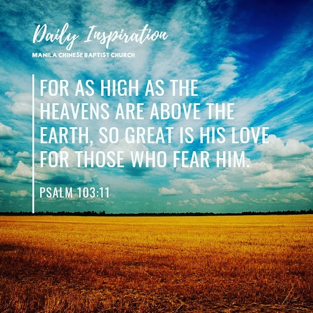 For as high as the heavens are above the earth, so great is His love for those w…