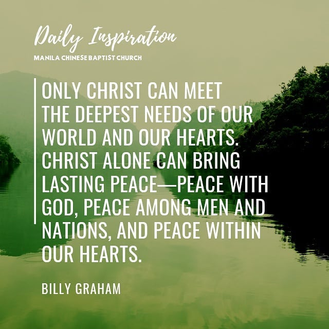 Only Christ can meet the deepest needs of our world and our hearts. Christ alone…