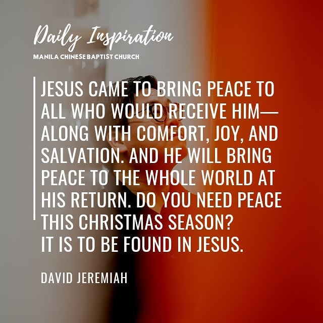 Jesus came to bring peace to all who would receive Him—along with comfort, joy, …
