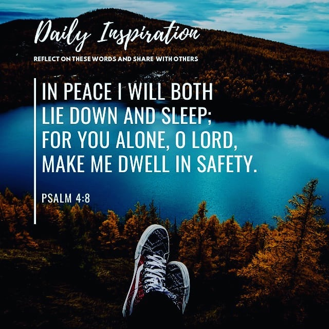 In peace I will both lie down and sleep; for you alone, O Lord, make me dwell in…