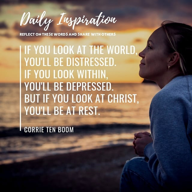 If you look at the world, you'll be distressed. If you look within, you'll be de…