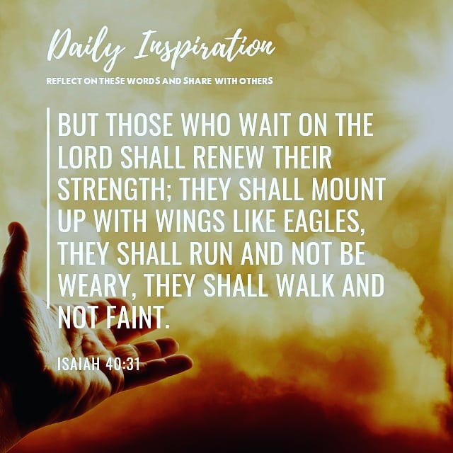 But those who wait on the Lord shall renew their strength; they shall mount up w…