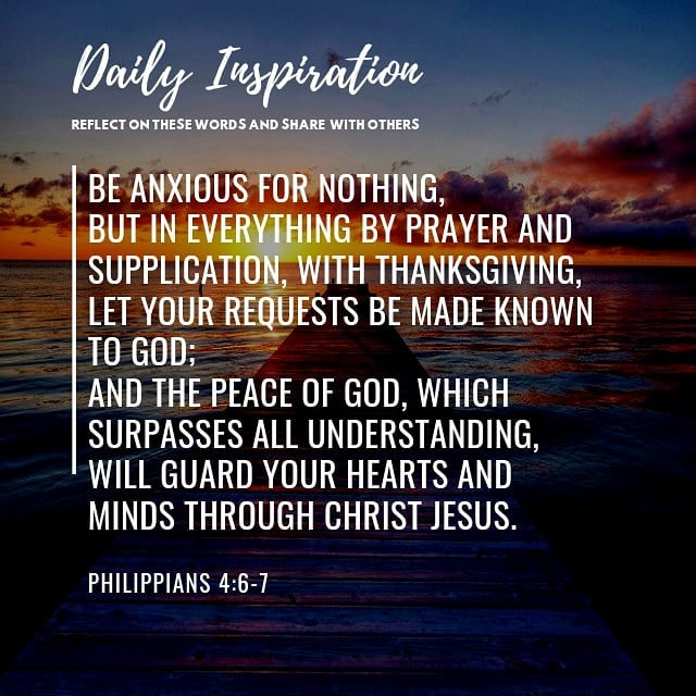Be anxious for nothing, but in everything by prayer and supplication, with thank…
