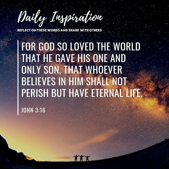 For God so loved the world that he gave his one and only Son, that whoever belie…