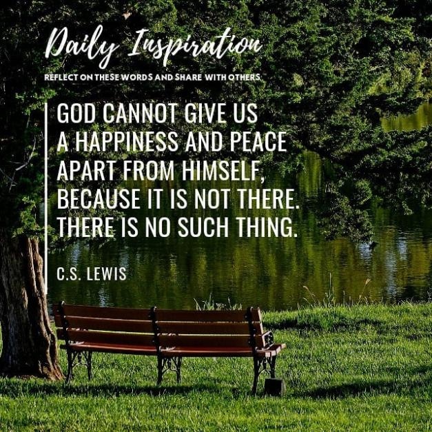 God cannot give us a happiness and peace apart from Himself, because it is not t…