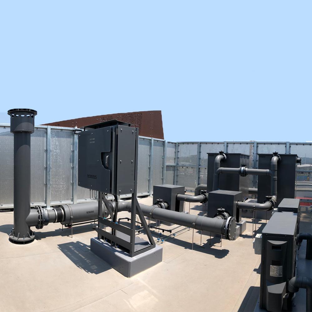 odour filter installation