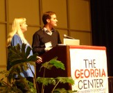 Speaking at the Georgia Conference on Children's Literature with Amanda Noll