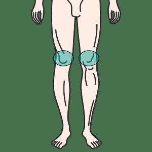 両ひざ(皿周辺5cm)