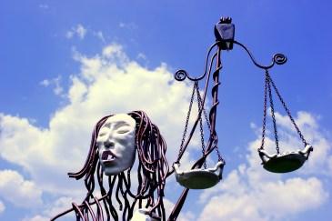 Blind Justice Sculpture