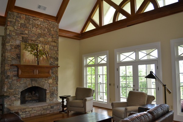 custom brick fireplace