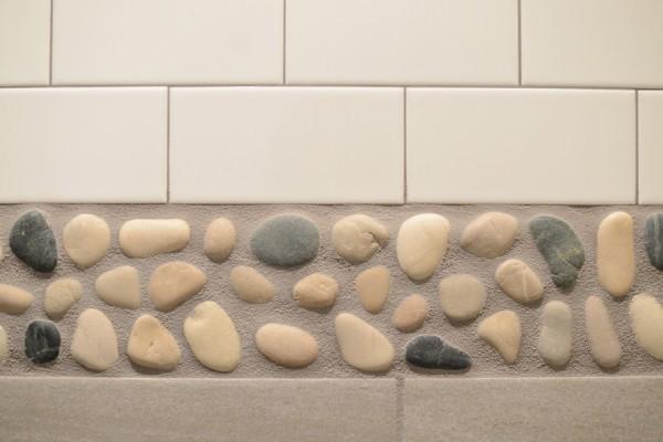 Master Bathroom Shower Stone Detail