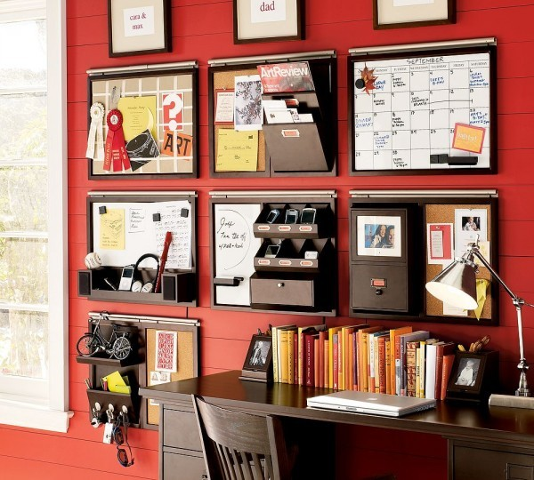 Bright Red Home Office