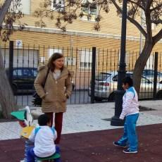 Soler (MC) comprueba los trabajos realizados para la adecuación de áreas de juegos infantiles y espacios públicos en barrios y diputaciones