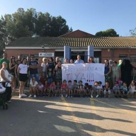 MC Cartagena, junto a los vecinos, reclama las instalaciones educativas dignas que PP y PSOE niegan a los escolares de La Aljorra