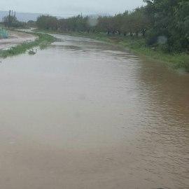 La lluvia pone de actualidad el déficit histórico de la CARM con el mantenimiento de las carreteras de la comarca del Campo de Cartagena