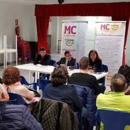 Los vecinos de la diputación de Alumbres y MC coinciden, una vez más, en reclamar un AVE que no divida ni aísle pueblos y barrios