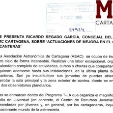 MC Cartagena 'fuerza' al Gobierno a garantizar la plena accesibilidad en el Centro Juvenil de Canteras