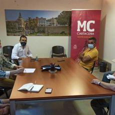 MC Cartagena propone un convenio entre la Escuela F.B. San Ginés 82 y el Ayuntamiento para que éste respalde la labor social de la entidad deportiva