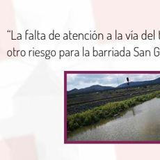 MC Cartagena exige la limpieza de la trinchera del ferrocarril en San Ginés para evitar inundaciones en la barriada
