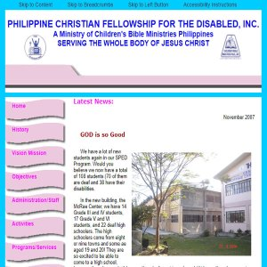 Philippine Christian Fellowship for the Disabled Website