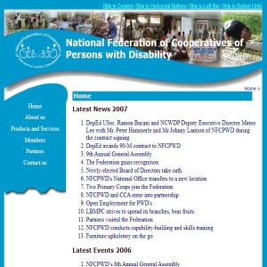 National Federation of Cooperatives of Persons With Disabilities Website