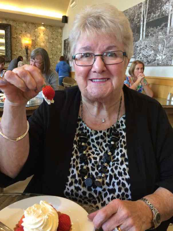 Mum, June McClelland, out and about on her 84th birthday!
