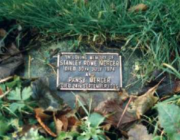 Stan and Pansy's plot in the churchyard at Christ Church, Stannington, Sheffield.