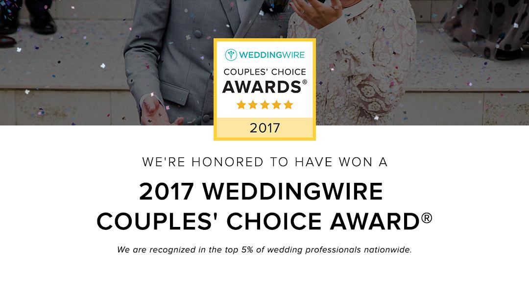 2017 WeddingWire Couples Choice Award – Matt McClosky Photography