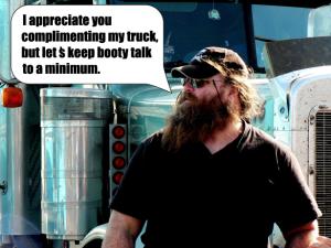 Em Dash Truck driver making a comment