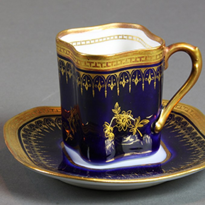 Demitasse cup and saucer, Italy, early twentieth century
