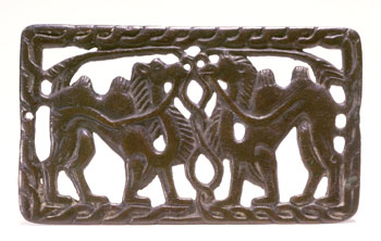Buckle plaque (V-7021) Bronze Southern Siberia, 2nd century BCE