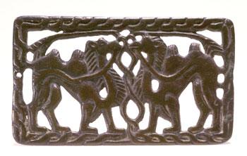 Buckle plaque (V-7021) Bronze Southern Siberia, 2nd century BCE