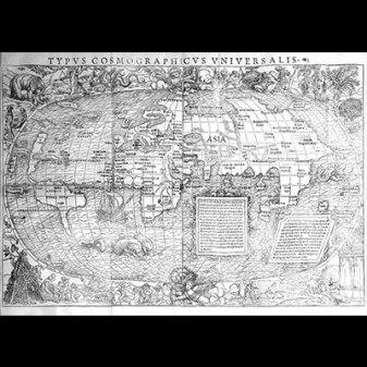 World Map, Hans Hobein and Sebastian Munster, Woodcut, Basel, 1532