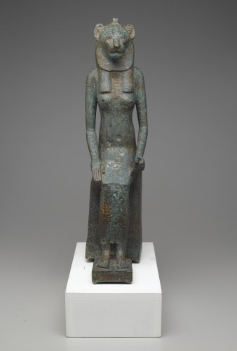 Seated Wadjet, 664-332 B.C.E., Bronze, Brooklyn Museum, Charles Edwin Wilbour Fund, 36.622.
