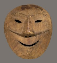 Kiiñaguk (mask), c. 1890, Tikigaq Iñupiat Driftwood, Gift of Louis Philippe Wulff, 1949.4.101