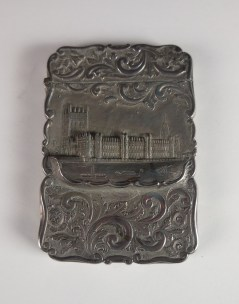 Calling Card Case, c. 1890, Nathaniel Mills, Birmingham, England Sterling silver, Bequest of Judge John Webb Green and Ellen McClung Green, 1957.3.57.