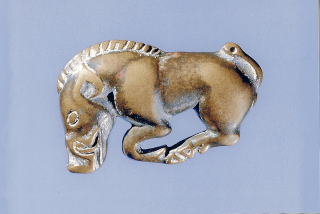 Bronze ornament from Northern China or Inner Mongolia, 5th-3rd century BCE.
