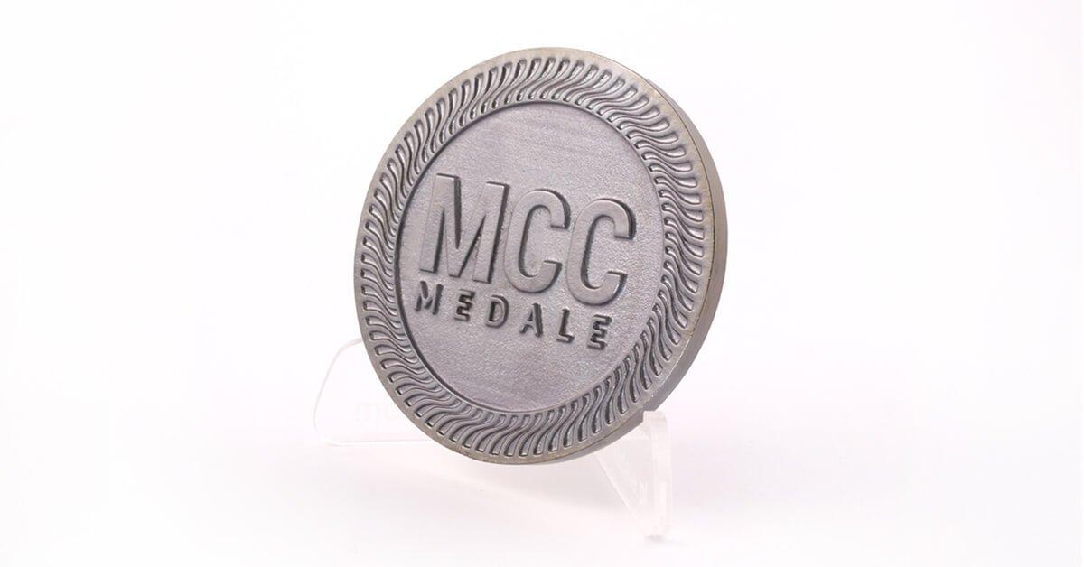 Czarny Nikiel - jeden z kolorów odlewów oferowanych przez MCC Medale
