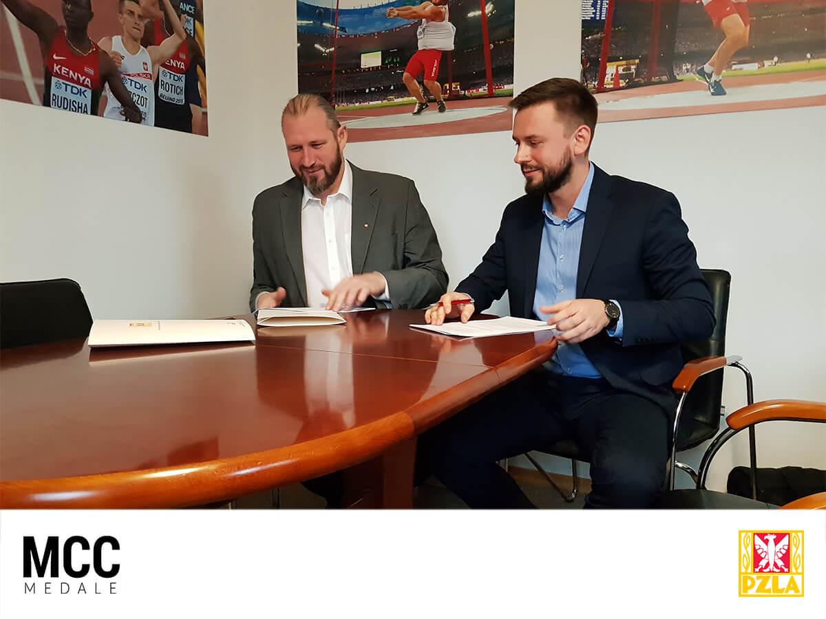 Podpisanie umowy o współpracy pomiędzy MCC Medale i PZLA