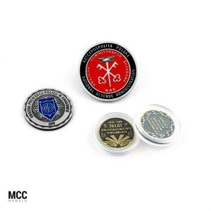 Monety z własnym wzorem wykonane na zamówienie przez firmę MCC Medale