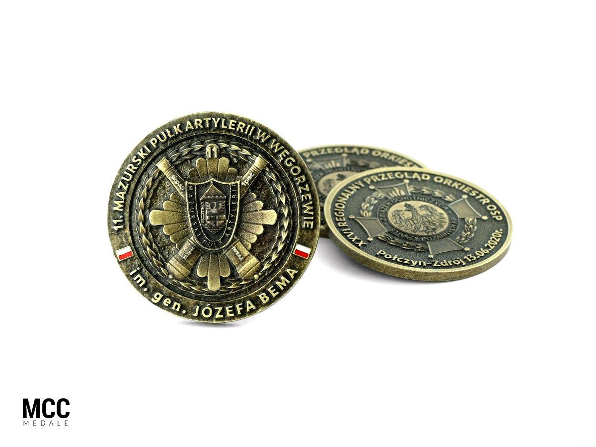 Medale okazjonalne wykonane w technice trójwymiarowej