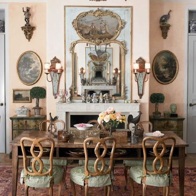Trumeaus:  Lovely mirrors that were formerly part of paneling.