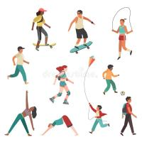 cartoon of different body movements