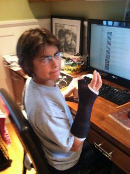 Growing up - broken arm