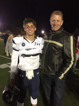 Mc and Dad at Mc Football 2016