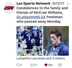 Tribute Lax Sports Network