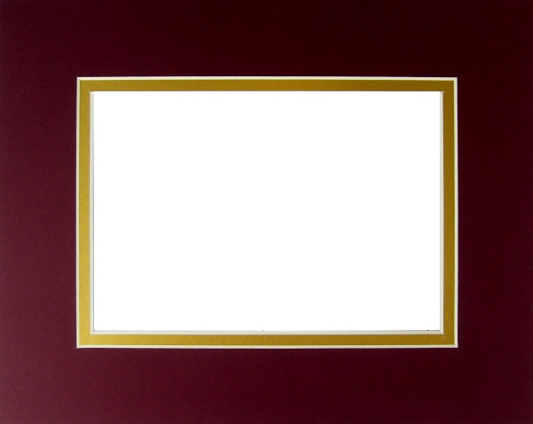 Burgundy over Gold S.O. Mat